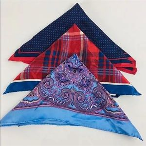 Bloomingdales Mens Pocket Squares Set of 3 F12-1
